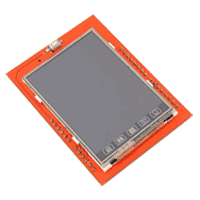 2.4 inch touch screen display shield pcb 1